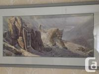 Stunning Piece by Denis Mayer Jr . This is a framed,