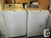 MAYTAG BRAVOS XL WASHER & DRYER - WHITE - FOR SALE