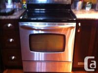 Maytag stainless smoothtop electric range with self