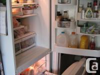"18.5 CU Ft White fridge. 66"" H, 293/4""W, 301/2""D (with"