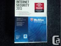 Brand new, never been opened McAfee Internet Security