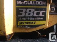 McCulloch 38cc MS1838AV ChainSaw was running before