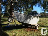 14ft wood/Fiberglass drift boat. Floats/ drifts