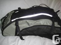 Black & gray Mountain Equipment Co-op pack with one