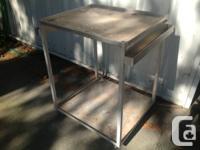 Tig welded aluminum rolling mechanics bench. Has super
