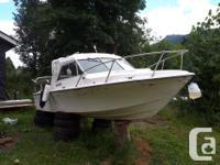 20 foot mercury cruiser 4 cylinder inboard boat . I am