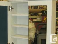 For Sale 1 Custom Built Medicine Cabinet Mirrored Doors