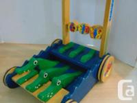 Melissa and Doug Wood Push Walker With Alligators Age