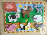 Melissa And Doug Wood Puzzle My First Chunky Farm