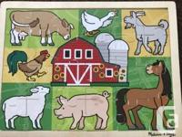2 Melissa and Doug Wooden Puzzles $8 each or both for
