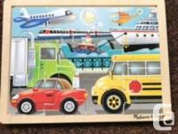 Melissa and Doug Wooden Puzzles $8 each or both for