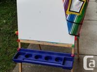 I purchased this Melissa & Doug dry-erase, chalkboard