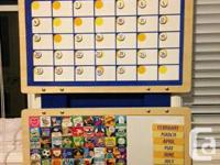 This is a Melissa and Doug Magnetic Calendar. It's in