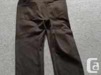 Brown cords, 33 waist and 30 inseam. Still