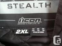 Men's ICON Hooligan Stealth Jacket 2XL motorcycle
