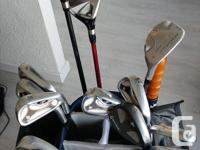 Full set of clubs. TaylorMade R7 irons (4-PW),