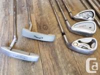 Men's RH Golf clubs set. The set includes: Grafalloy