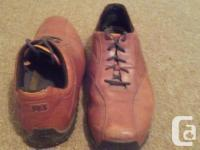 Good condition, size 14W, moderate wear on soles, toes