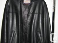 Men Lather Jacket size 46 call