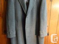 This men's Crombie Classic Royal Scott Wool Overcoat is