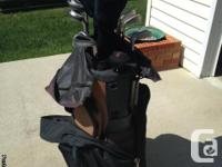 Hybrid Clubs with Graphite shafts..w/ bag and putter