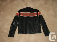 Mens Harley-Davidson racing series motorcycle jacket.