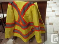 "*BRAND NEW* mens work neon safety ""Forcefield"" jacket -"