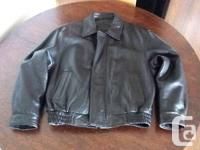 Mens Leather Jacket Almost New. Made by Bostonian.