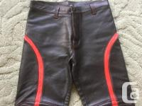 Men's Rough Trade leather motorcycle pants. Back