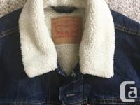 Brand New with Tags Mens Sherpa Trucker Jean Jacket in