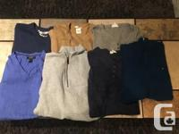 Men�s Name Brand Sweaters/Top LOT For Sale - Like New!