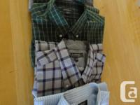MEN'S SHIRTS, SIZE L, 14 long sleeve and 5 short