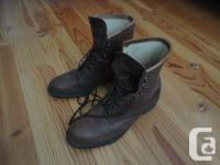 Men's size 9.5 Brahma leather riding boots with large