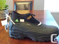 Mens size 10 Dakota slip on, steel toed, waterproof
