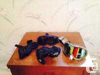 Von Zipper Goggles $60; Uvex Goggles $15; Burton Men Sz