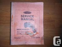 """""""Mercury Service Guidebook Mercruiser Stern Drive Units"""
