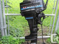 Offering a 9.8 hp Mercury outboard with electric
