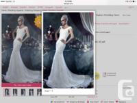 This Mermaid Wedding dress is called Ivory but looks