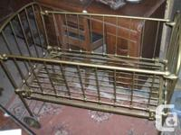 Very nice metal crib Ca. 1900  with a price of  $125