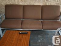1x Dark Brown couch 1x Red couch 1x Dark Blue couch 1x