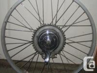 "aluminum rear rim with hub type brake for 24"". 1"