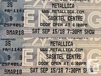Two side-by-side hard copy tickets to the sold-out