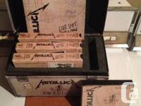 Metallica box set contains 3 VHS tapes, 3 CDs, a tour