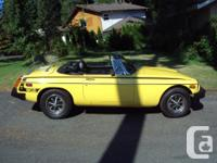 Make MGB Model MGB Year 1978 Colour Yellow Trans