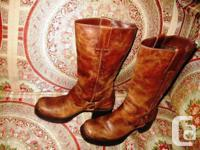 MIA Women's PATTERSON BROWN Boots 8 M Motorcycle SHOES.
