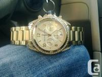 Michael Kors stainless steel Blair watch  Retail value