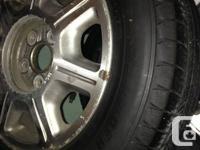Michelin DEFENDER 205/65/15.  Original TOYOYA ALLOY
