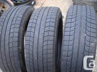 i am selling 4 tires michelin latitude x ice 235/60/18