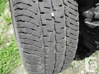 Michelin LT265/70R x 18 tires and rims for GMC or Chev.