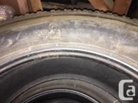4 nearly new heavy duty truck tires, only 14,800 kms on